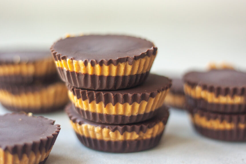 Protein Peanut Butter Cups stacked