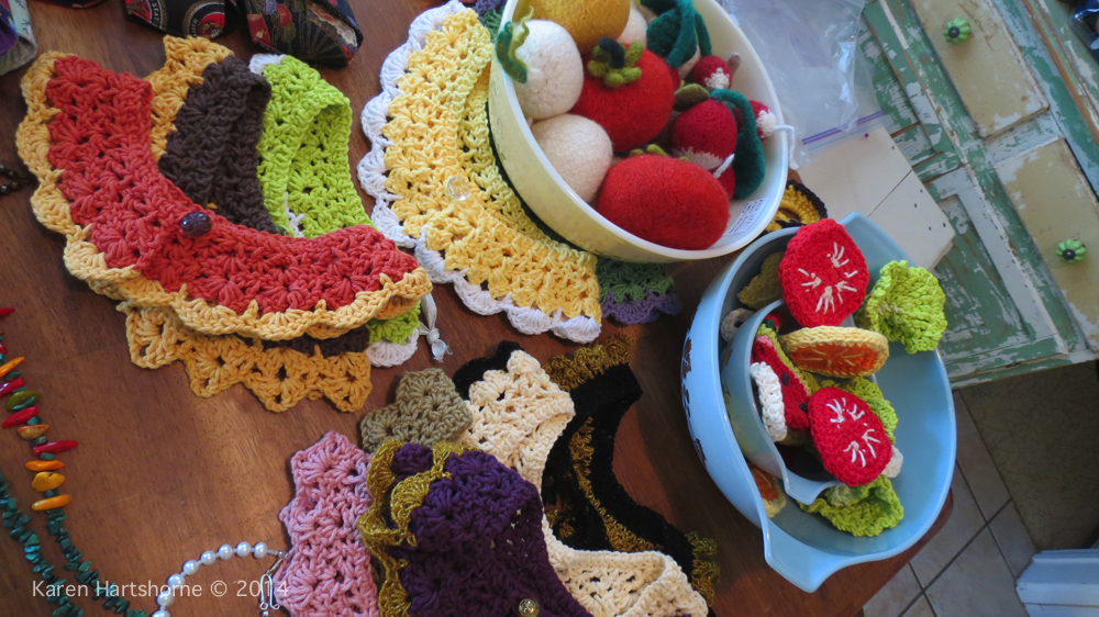 Crocheting and Knitting Collars, Fruit and Vegetables