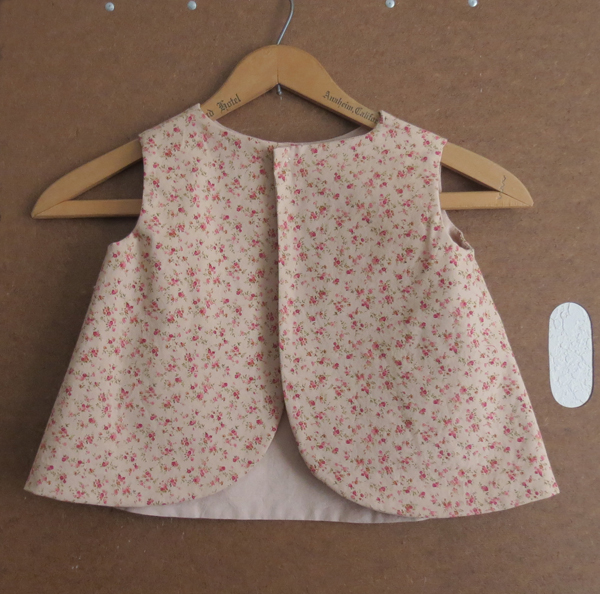 Little Girl's Tea Rose Pinafore Toddler Size 1