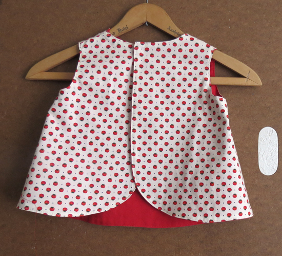 Little Girl's Saucy Tomato Pinafore Toddler Size 1