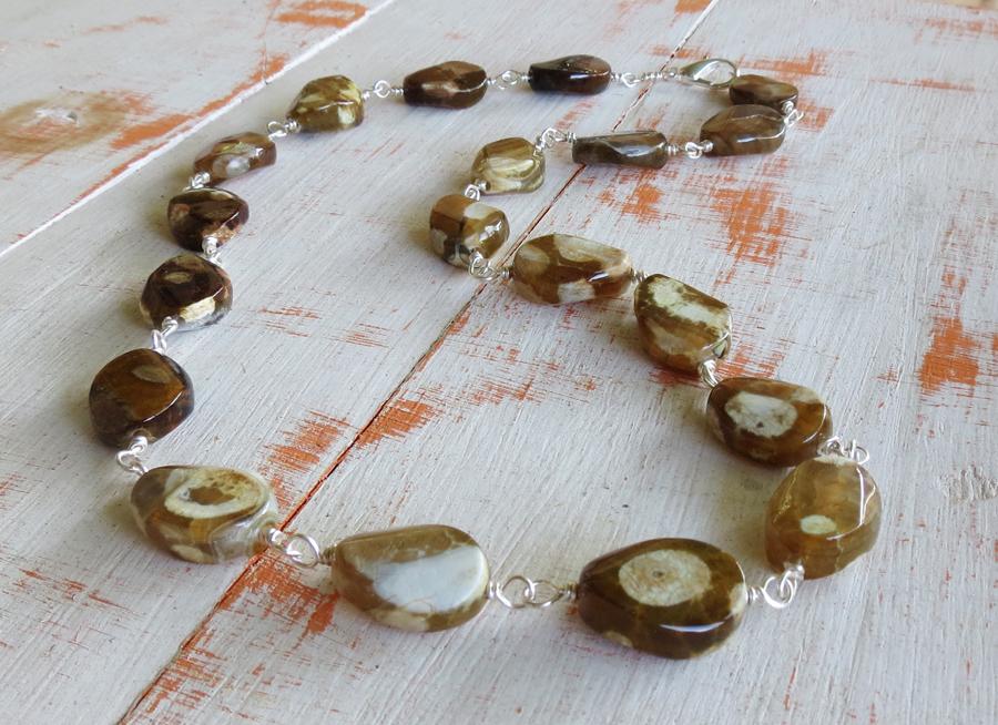 Dalmatian Stone Necklace