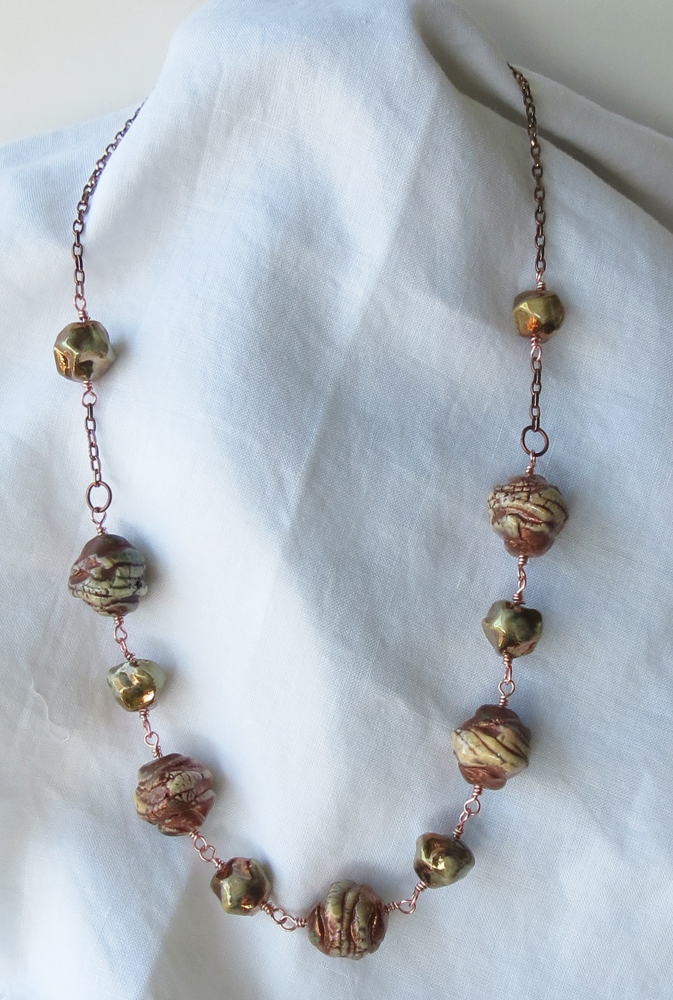 Raku Bead Necklace