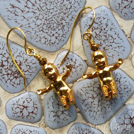 'Gold' King Baby Earrings