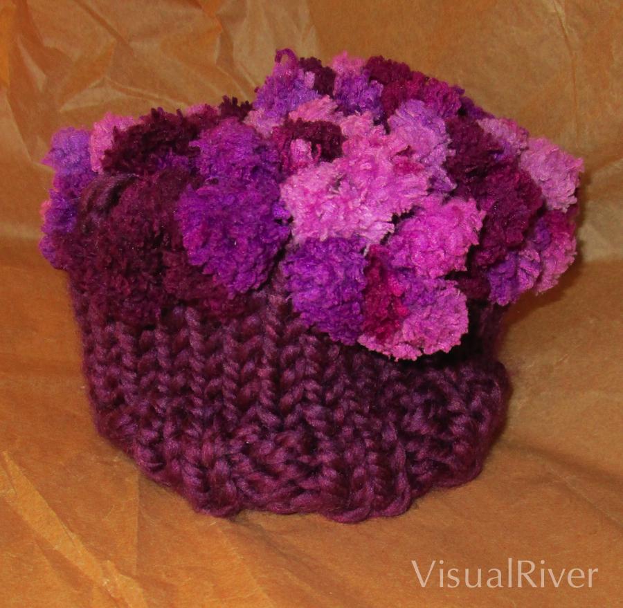 Child's Grape Knit Hat