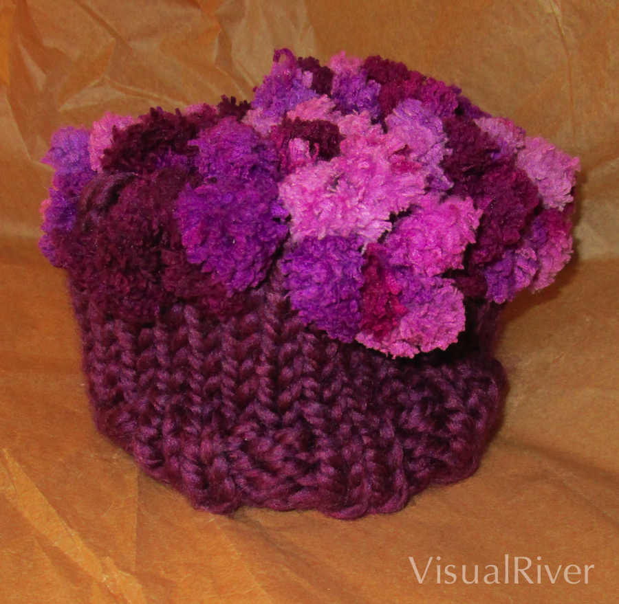 Child's Grape Knit Hat