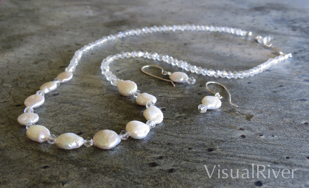 Pearl Coin Necklace Set