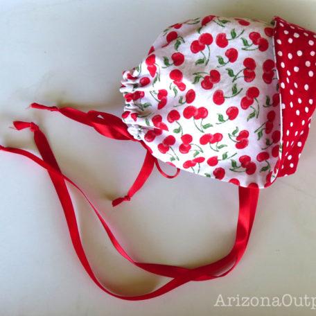 Cherry Baby Bonnet