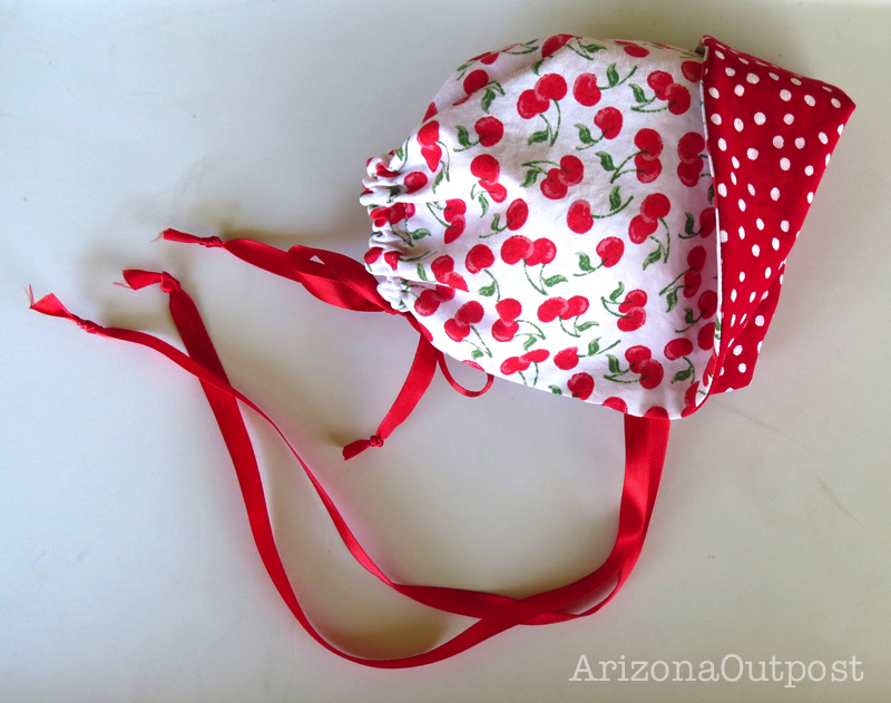 Cherry Baby Bonnet
