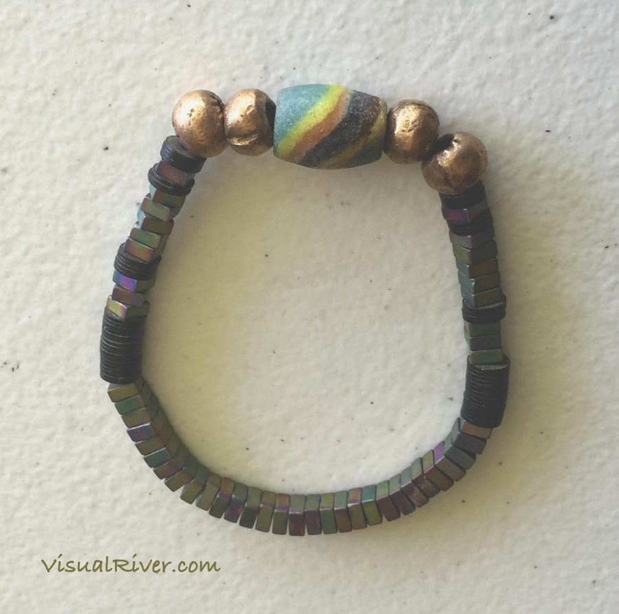 Raku Earth Tone Bracelet