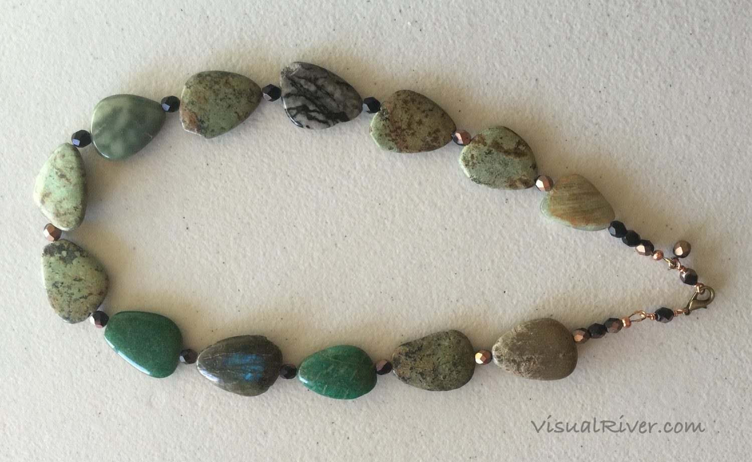 Jasper and Czech Crystal Necklace