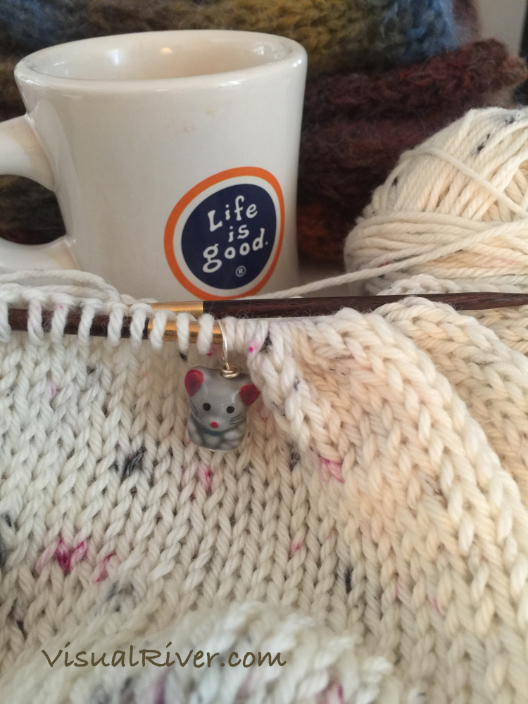 Knitting ~ the weather is changing