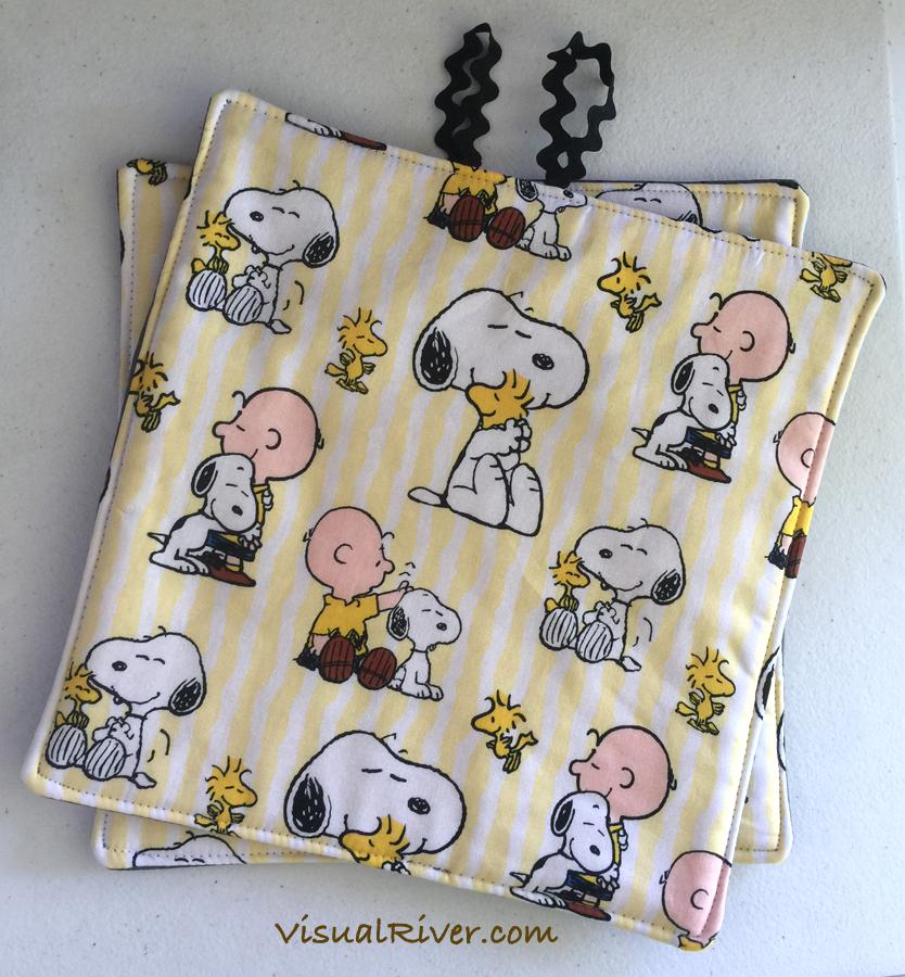 Charlie Brown, Snoopy and Woodstock Potholders