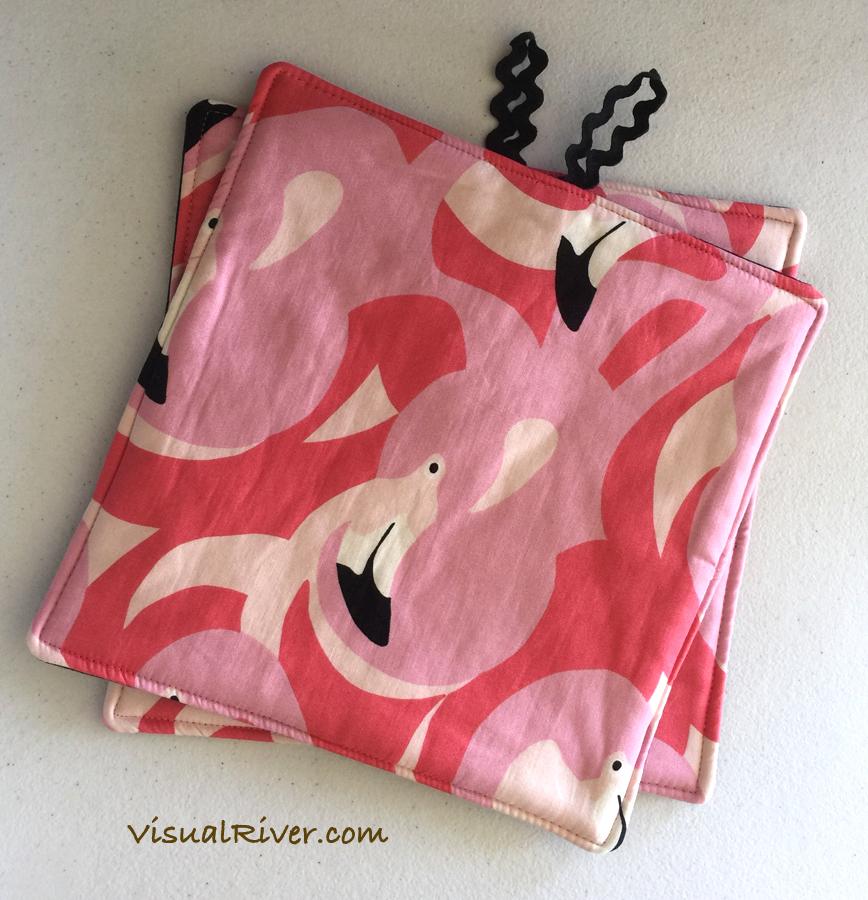 Flamingo Potholders