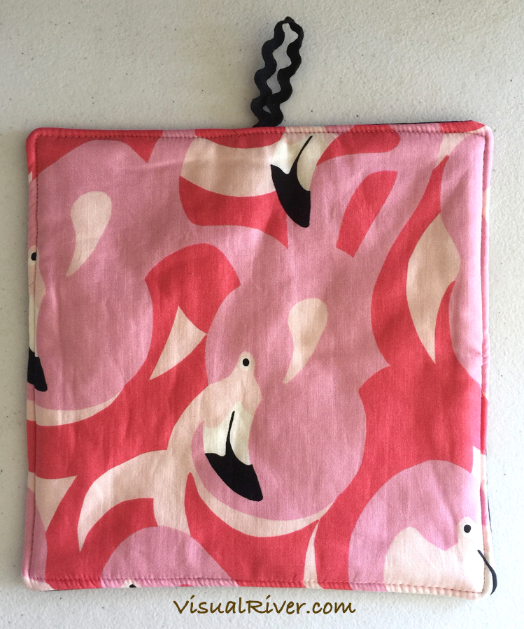 2 Flamingo Potholders ~ 100% Cotton