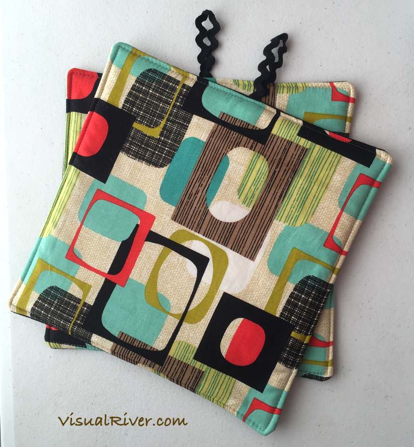 Mod Geometric Pot Holders