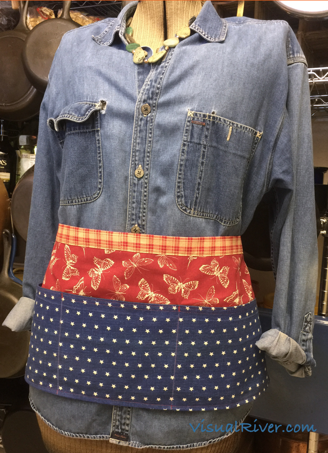 Butterflies and Stars Waitress Style Apron