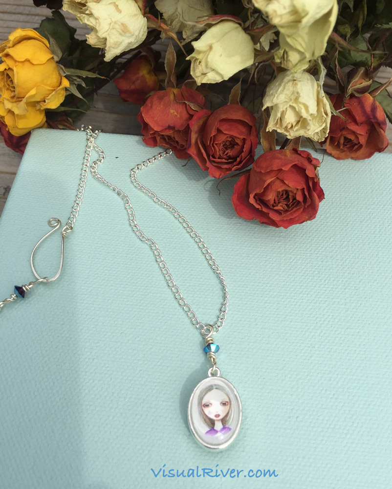 Lilly and Sylvia Portrait Pendant Necklace on Chain