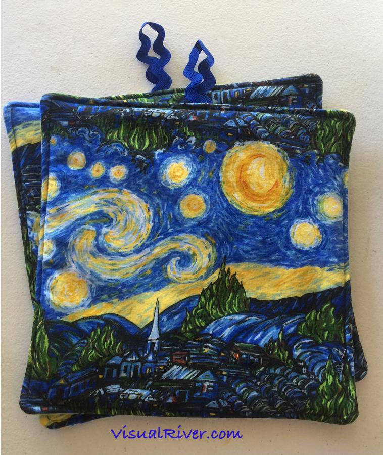 Van Gogh Starry Night Potholders