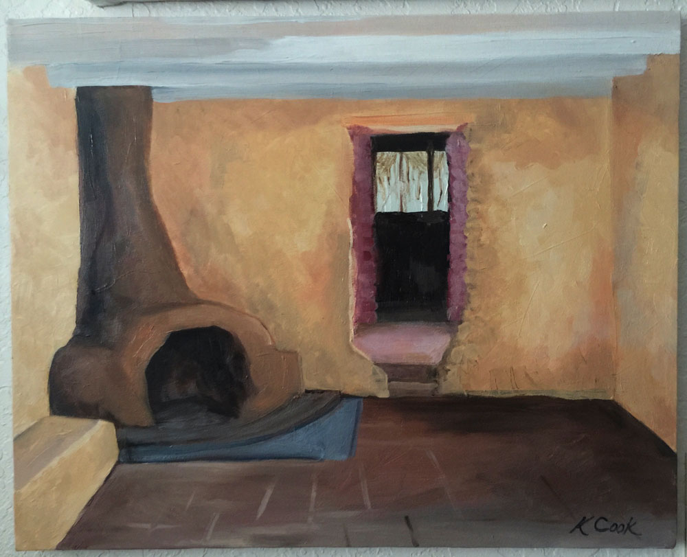 Degrazia's Little House, oil on canvas