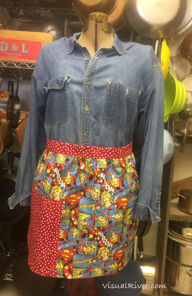 Superwoman Half Apron
