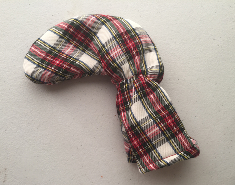 Tartan Plaid Golf Club Putter Cover with Red, Black, Yellow and White
