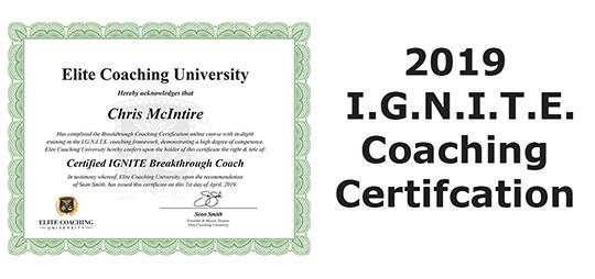 2019 I.G.N.I.T.E. Coaching Certification