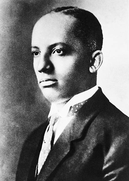 Black History Month:  Image of the founder of Black History Week, Carter G. Woodson