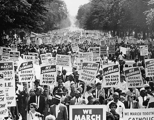 Black History month: Image of the march on Washington in 1963