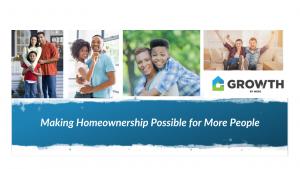 Affordable Homeownership photos and GROWTH logo