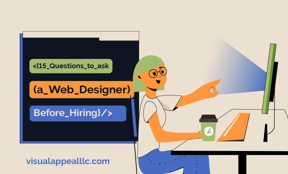 VADS illustrated image of website designer