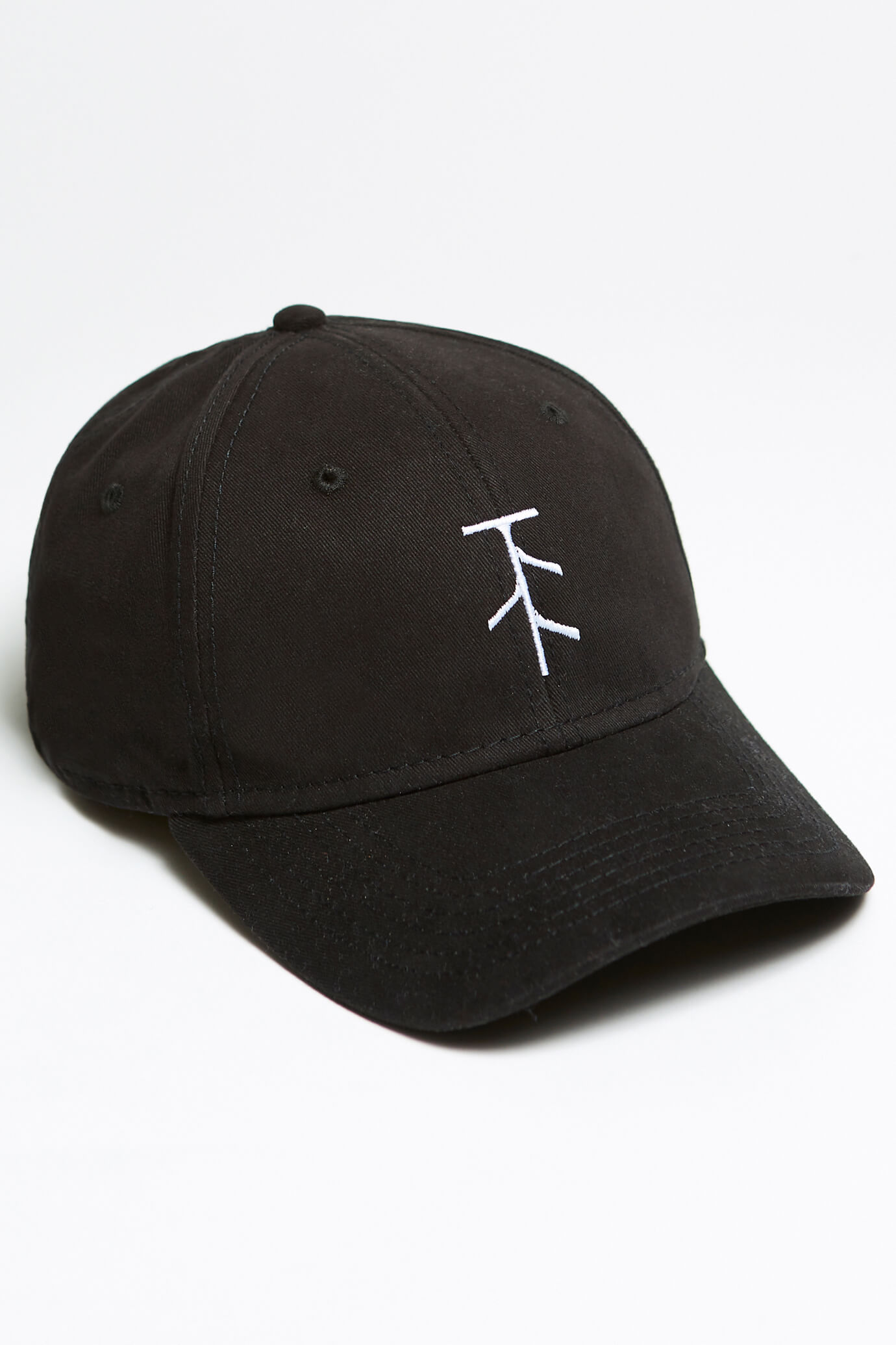 taproot pictures hat in black with rooty