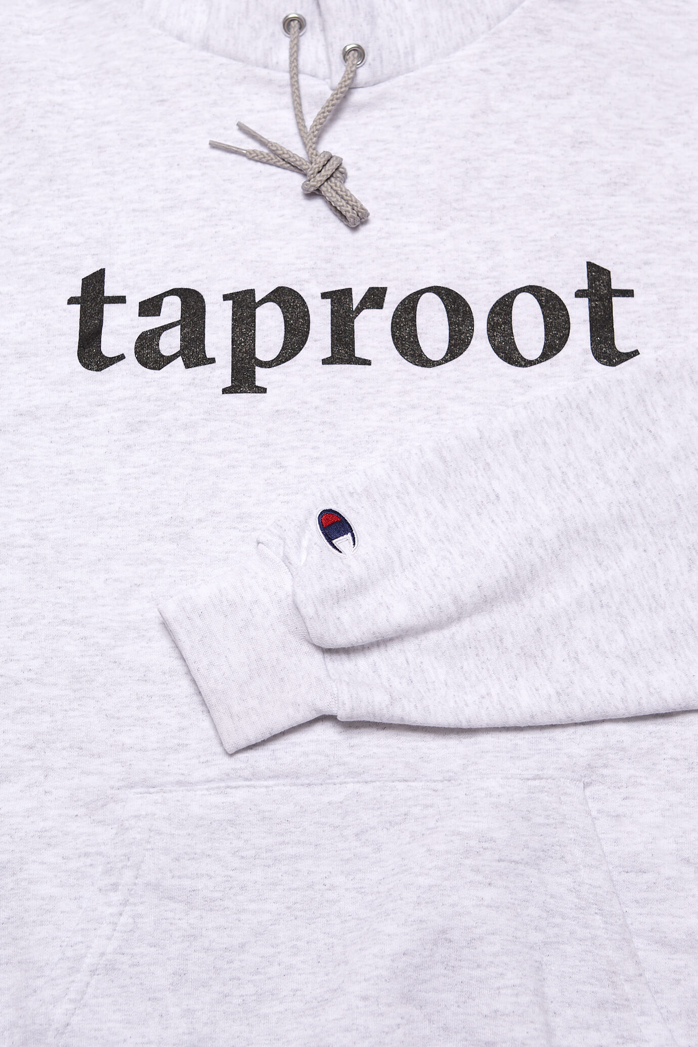taproot pictures champion sweatshirt with logo close up