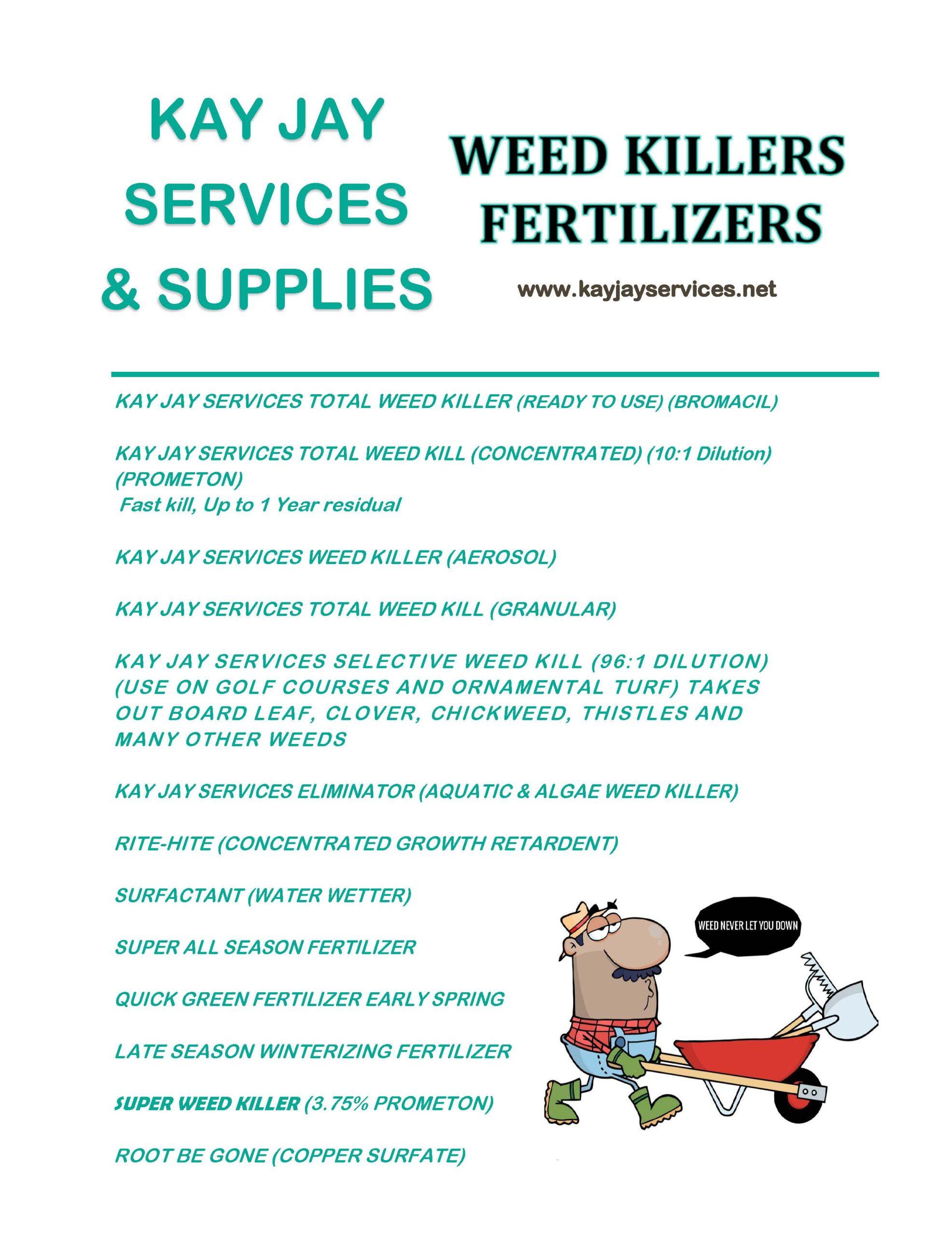 Weed Killers/Fertilizers Flyer