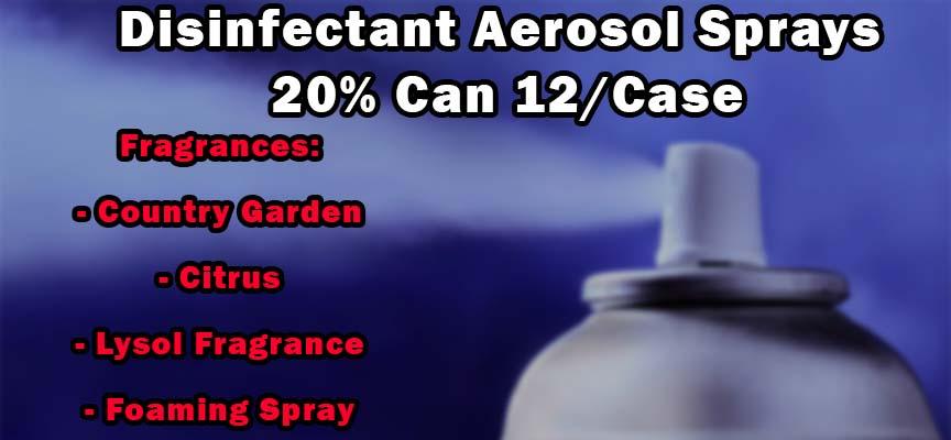 Disinfectant Sprays Aerosol 20% Can 12/Case