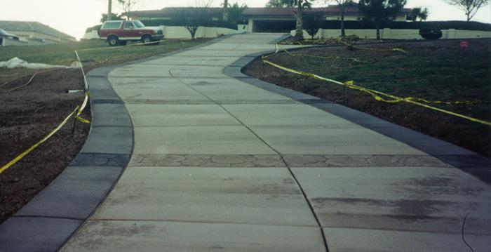 Concrete Long Driveway