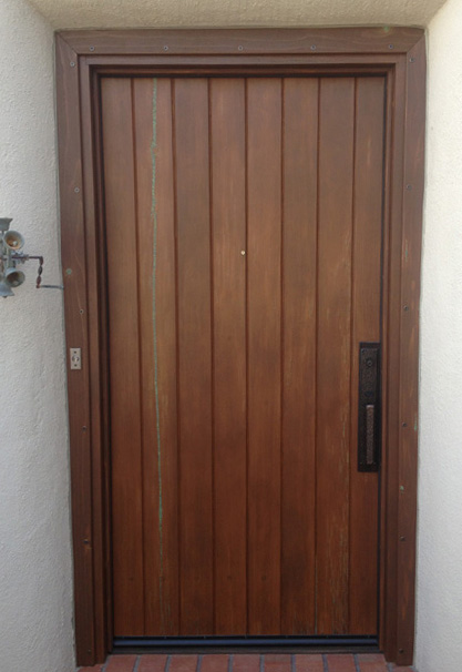 Stained Wood Door