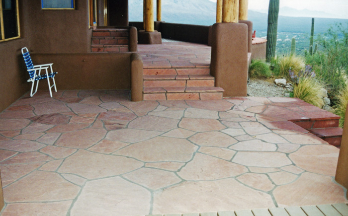 Flagstone Porch and Steps