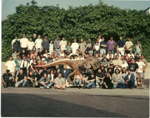 Crew photo for Tatopoulos FX shop for Godzilla movie with Matthew Broderick in 1997