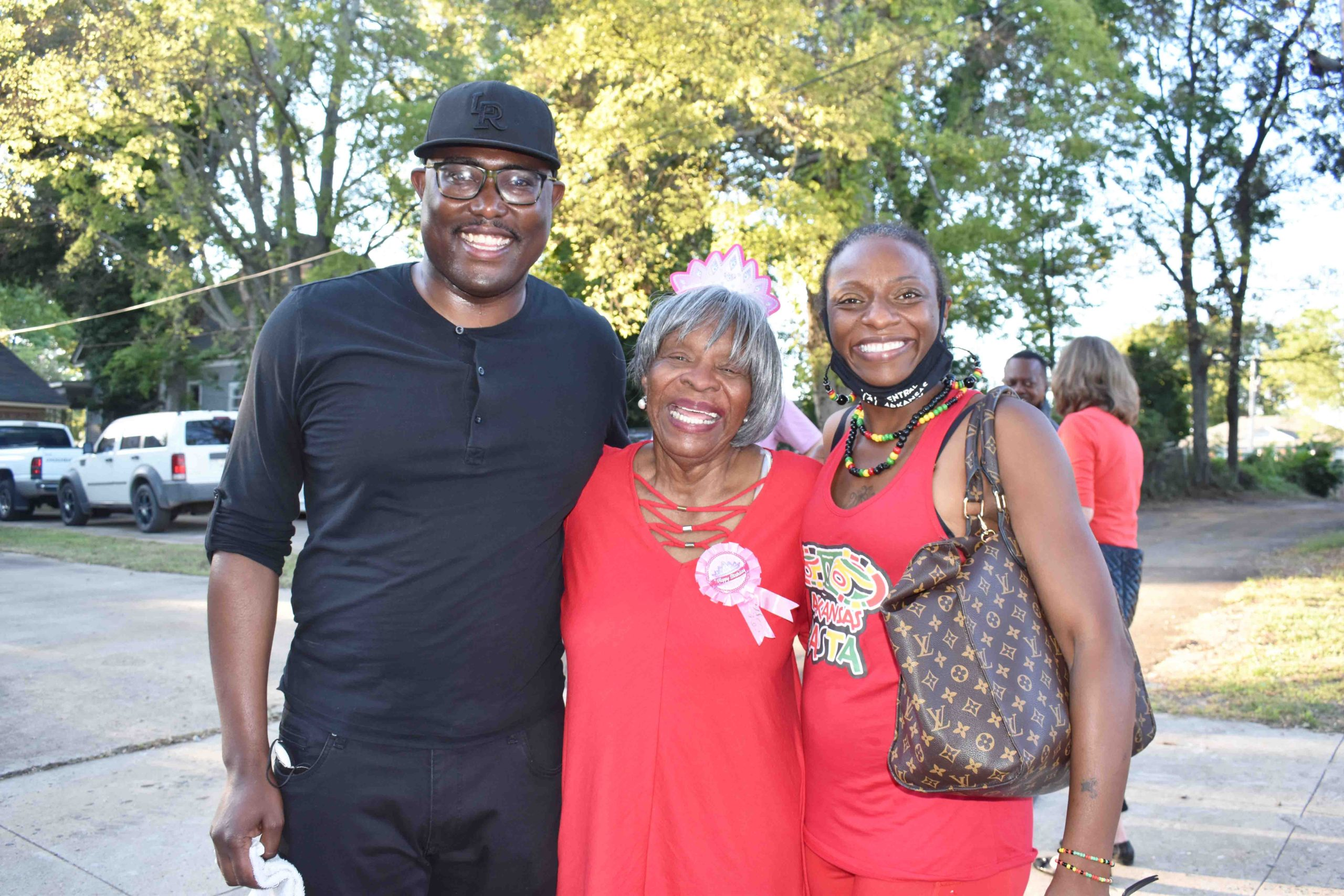 Little Rock Mayor Frank Scott, Jr., Annie Abrams, Kanisha Hatton
