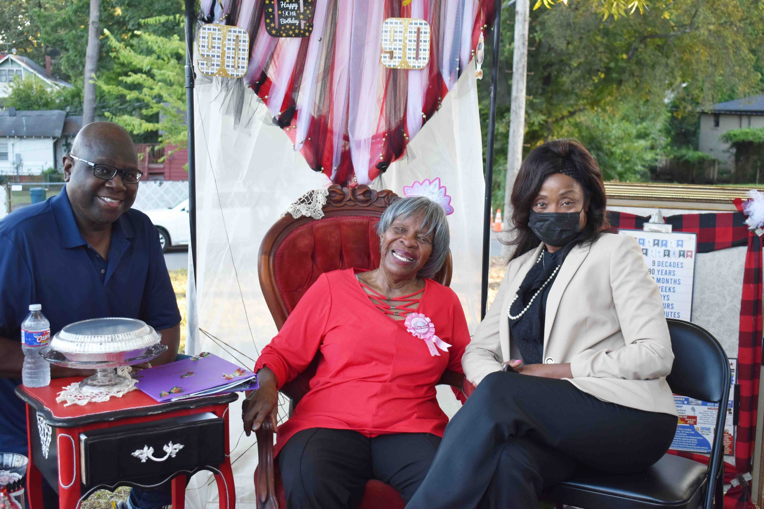 Rep. Fred Allen, Annie Abrams, Dr. Charity Smith