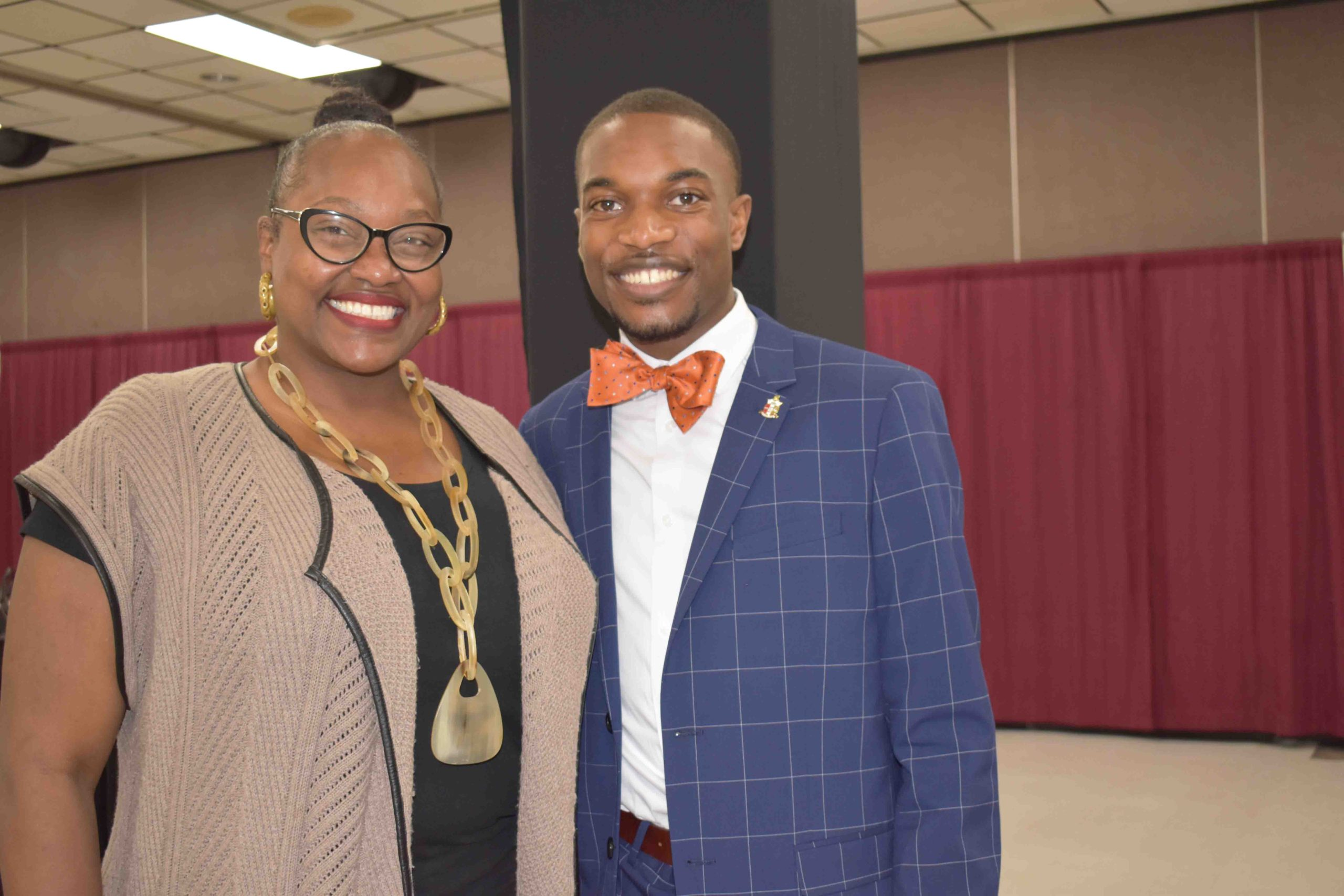 State Rep. Vivian Flower (Pine Bluff), UAPB Student Body President Leon Jones, III