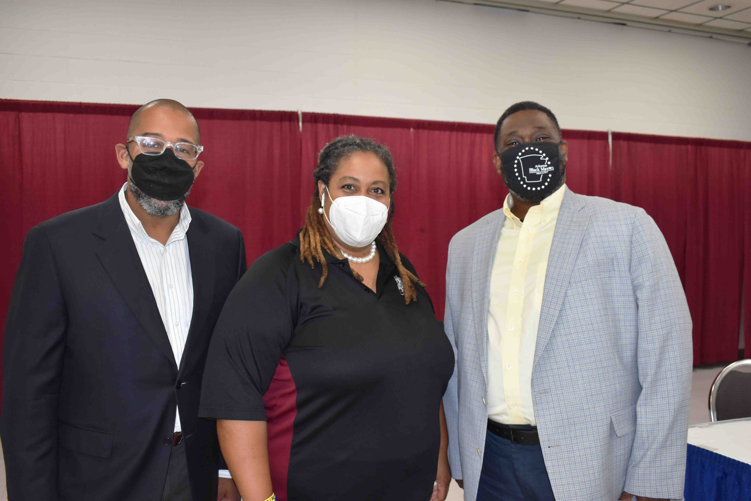 Urban League Executive Director, Scott Hamilton, Kymara Seals, Camden Mayor Julian Lott