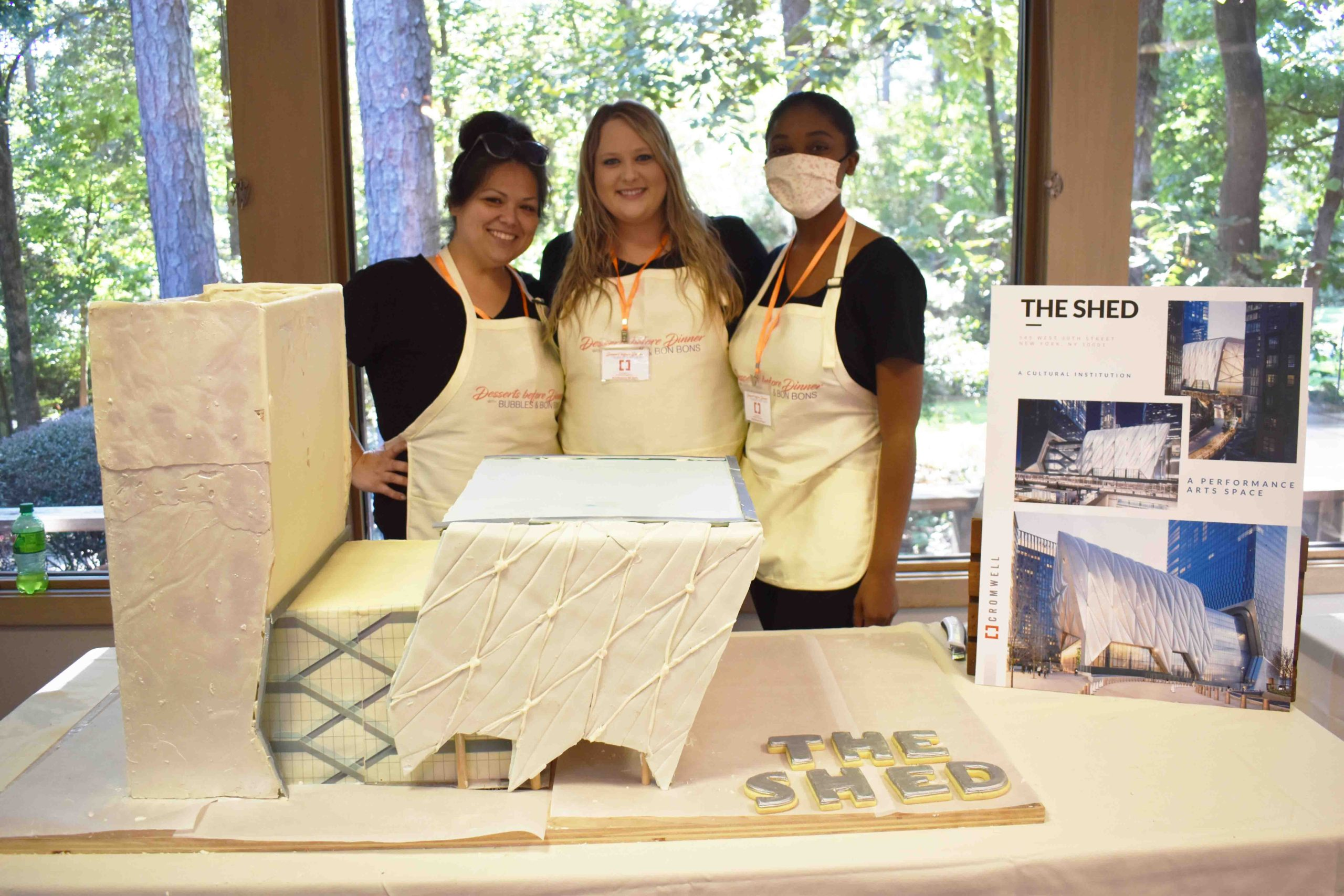 Jacinda Gregory, Emily Hill, Amber Banks – Cromwell Architects stand with entry 'The Shed'