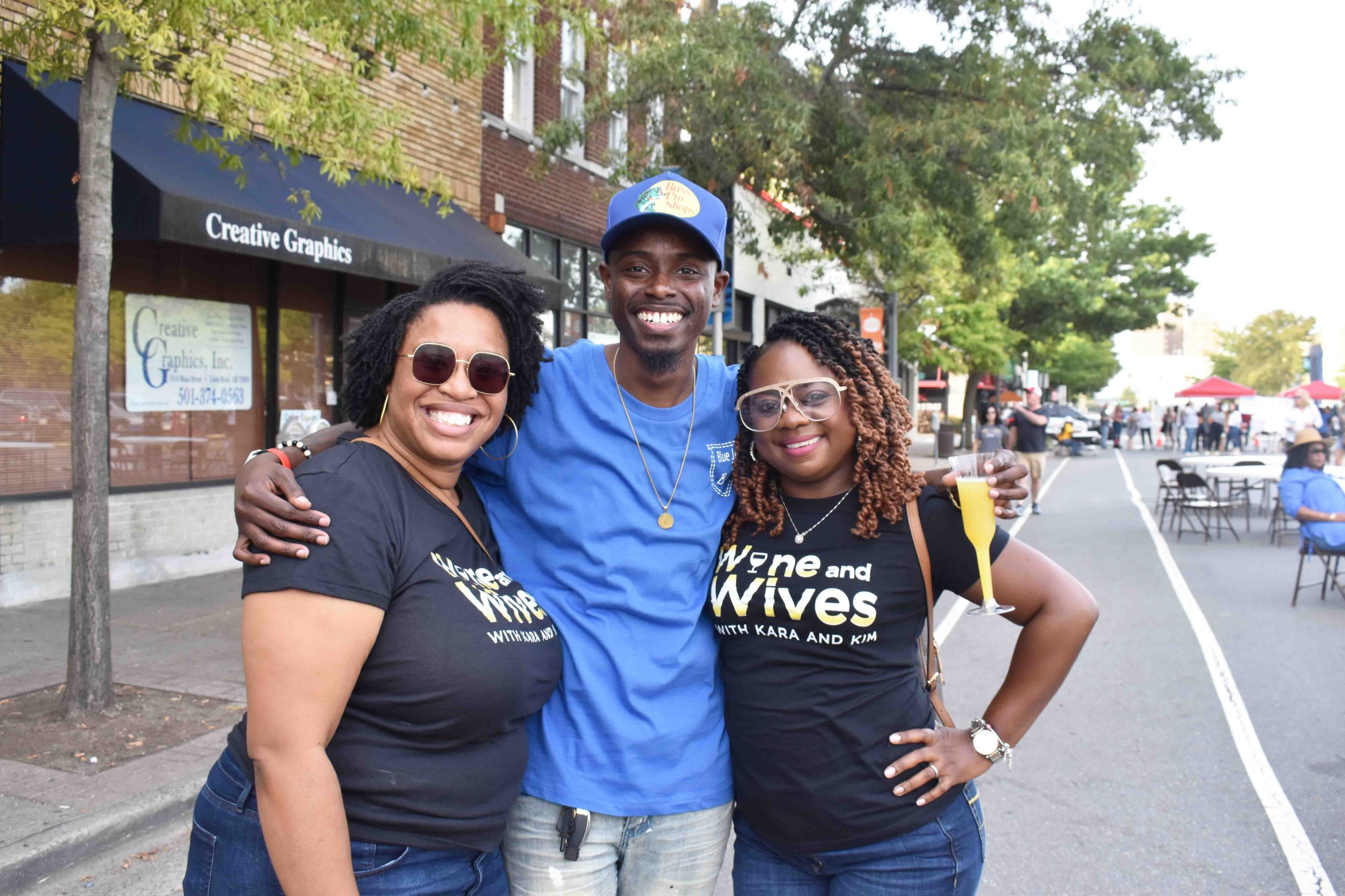 Kara Wilkins, Event Chairperson Gerald Thomas, Kimberly Lee