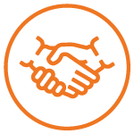 Icon showing two hands shaking