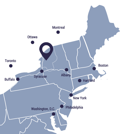 map of northeast United States