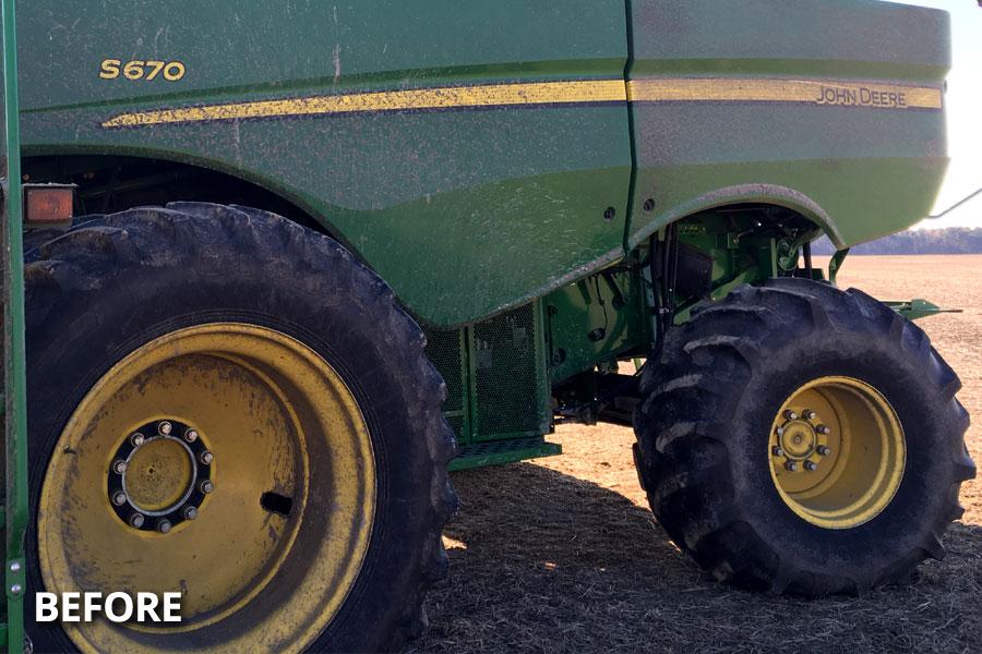 farm-equipment-wheel-tire-washing-before-delmarva-md-de