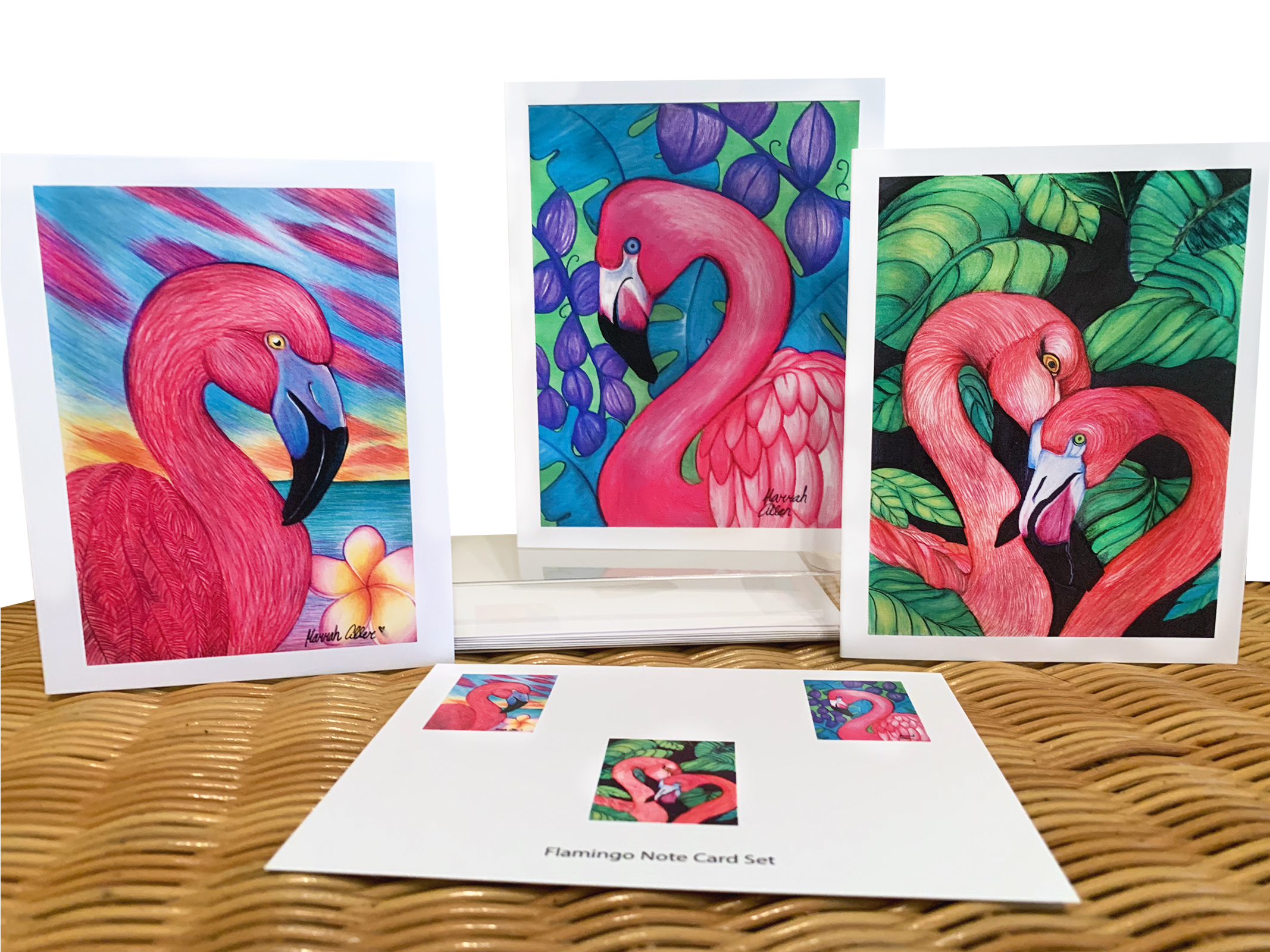 Flamingo Madness Note Card Pack