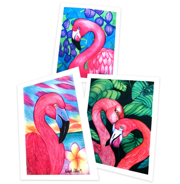 HMA Flamingo Note Cards