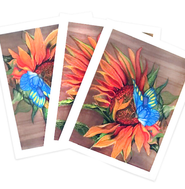 Sunflower & Butterfly Note Cards HMA